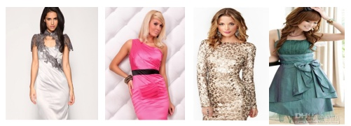 Colourful party dresses