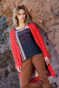 Captain Tortue Orange Cardi