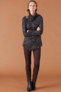 Black brown jumper